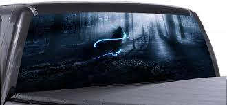 Amazon Com Vuscapes Spirit Wolf Night Lee898 Rear Window Truck Graphics Decal Suv View Thru Vinyl Automotive