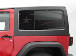 Distressed Texas State Flag Decal Set For Jeep Wrangler 2 Door Jk Side Windows 2006 2017 Tf8 Flag Decal Texas State Flag Jeep Wrangler
