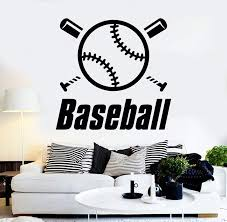Vinyl Wall Decal Baseball Word Sports Boy Room Stickers Mural Unique G Wallstickers4you