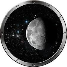 12 Porthole Space Ship Window View Moon 1 Silver Wall Sticker Decal Graphic Ebay