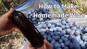 how to make homemade wine blueberry wine