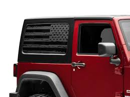 Sec10 Jeep Wrangler Distressed Flag Hard Top Window Decal Matte Black J134511 07 18 Jeep Wrangler Jk 2 Door