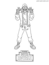 Kleurplaat V Bucks Fortnite Coloring Pages