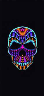 colorful skull wallpaper kolpaper