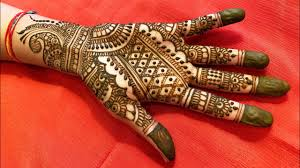 easy mehndi design in full hand