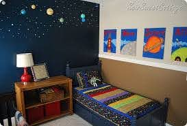Sew Sweet Cottage The Boys Room Outer Space Room Space Themed Room Space Themed Bedroom