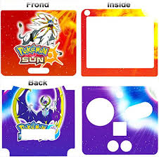 Amazon Com Pokemon Sun Moon Go Cool Skin Vinyl Sticker Cover Decal For Nintendo Gba Sp Video Games
