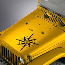 Amazon Com Skunkmonkey Hood Decal Fits Jeep Wrangler Tj Lj Jk Jku Compass Sticker Lime Green Stickers Automotive
