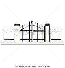 Halloween Cemetery Gate Isolated Icon Vector Illustration Design