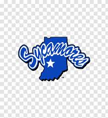 Logo Indiana State University Wall Decal Sycamores Blue Transparent Png