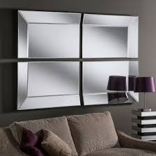 modern 4 panel wall mirror 185 x 125 cm
