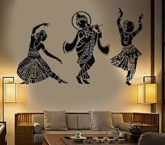 Vinyl Wall Decal Dance Indian Womans Devadasi Indian Dance School Hindu Stickers Unique Gift 774ig Wall Paint Designs Wall Painting Decor Wall Painting