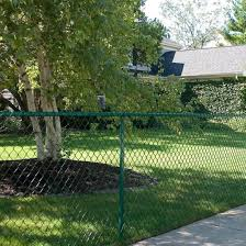 China 4 Ft X 50 Ft Steel Backyard Home Barrier Border Green Chain Link Fence Fabric China Chain Link Fence Fabric Green Chain Link Fence Fabric