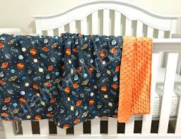 planets space stars bedding blanket or