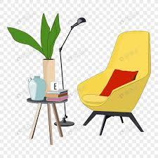 sofa coffee table book floor lamp png