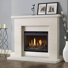 pureglow drayton limestone fireplace