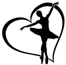 Ballerina Heart Vinyl Decal Sticker Window Wall Bumper Dancer Love Ballet Studio Ebay