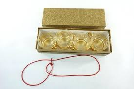 gold shot glasses rose plastic
