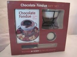 chocolate fondue gift set with recipe