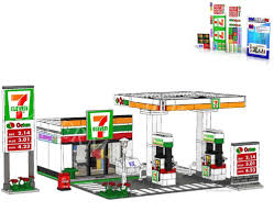Stickers Lego Custom: 24 Seven Gas Station, Code Card Instructions ...