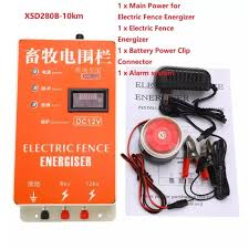Dc 12v Xsd280b 10km Solar Electric Fence Energizer Charger High Voltage Pulse Controller Animal Poultry Farm Electric Fencing Shepherd Lazada Ph