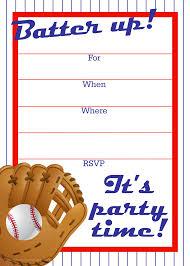 Free Printable Baseball Party Invitation Fiesta De Cumpleanos De
