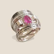 jewish ring hebrew ring ruby ring