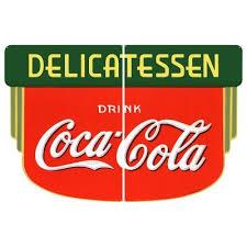Drink Coca Cola Fountain Service 1930s Wall Decal Restaurant Kitchen Decor Advertising Collectibles Coca Cola