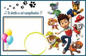 Tarjetas De Cumpleanos Invitaciones Patrulla Canina 50 00 En