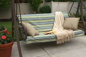 slip cover with ties for porch swing