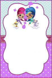 Shimmer And Shine Invitations For Girls Birthday Invitation Card