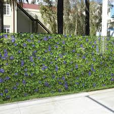Fencescreen 6 Ft X 25 Ft L Purple Morning Glory Graphic Pvc Chain Link Fence Screen Lowes Com Chain Link Fence Chain Link Fence Privacy Landscaping Along Fence