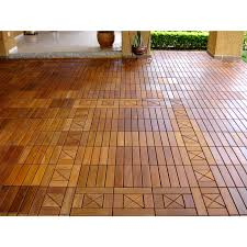 Shop EcoDeck 10 sq ft Ipe Wood Flooring and Decking Tiles (Pack of ...