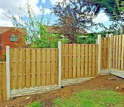 Wooden Fence Panels Hit Miss Hit And Miss Windproof Double Sided 49 00 Picclick Uk