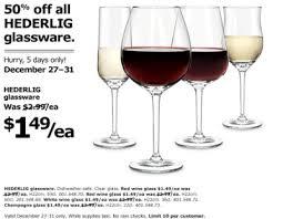 ikea canada 50 off hederlig glassware