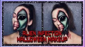alien torn face makeup tutorial