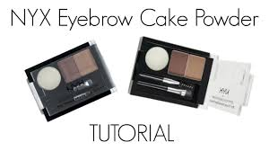 nyx eyebrow cake powder tutorial you