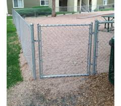 Residential Chain Link Single Swing Gate America S Fence Store