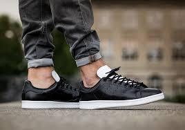 adidas stan smith black white leather