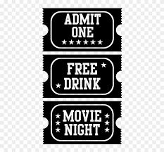 Movie Tickets Wall Decals For Home Theaters Bagrati Cathedral Clipart 1240851 Pikpng