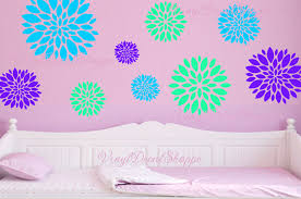 Large Flower Wall Decal Girls Room Decor Girls Room Decal Pretty Room Flower Stickers Baby Girl Nursery Tween Decal Teens Room Decor