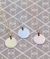 gold disc necklace solid 9ct