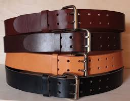 heavy duty leather work belt mens