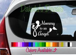 Mommy To An Angel Girl Car Decal Etsy