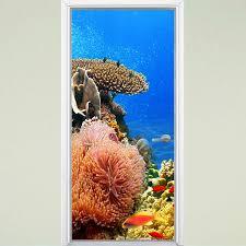 Highland Dunes Underwater Coral Reef Ocean Vinyl Fish Door Decal Wayfair