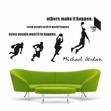 Kid S Room Wall Decal Just Do It Michael Jordan Dunk Basketball Sports Stars Quote Mural Removable Wall Stickers Home Decor Wall Stickers Aliexpress