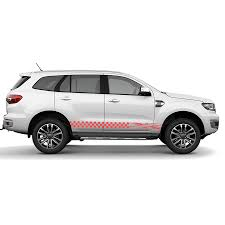 Car Decal 2 Pcs Grid England Flag Racing Side Door Graphic Vinyl Custom Sticker For Ford Everest Endeavour Car Stickers Aliexpress