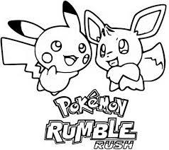 Kleurplaat Pokemon Games Op Mobiel Pikachu En Eevee Pokemon