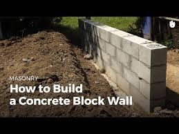 to build a concrete wall diy projects