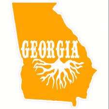 Georgia Roots State Car Decal U S Custom Tees